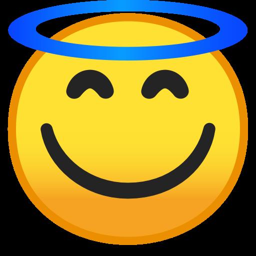 Heiligenschein Smiley