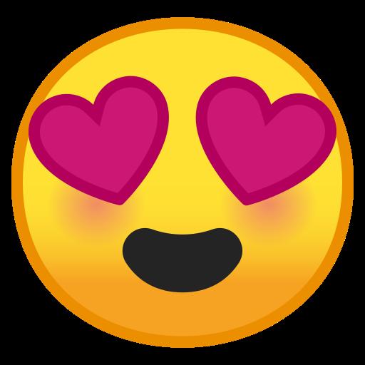 ???? Visage Souriant Avec Yeux En Forme De Cœur Emoji