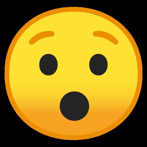 😯 Rosto Surpreso Emoji
