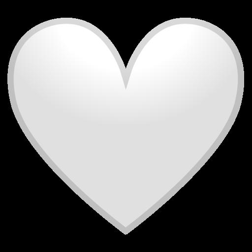 🤍 White Heart Emoji