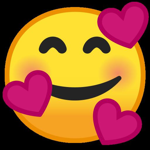 Visage Souriant Avec Cœurs Emoji