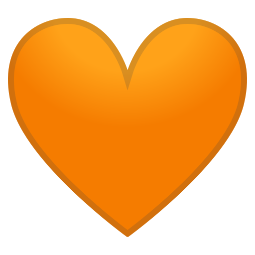 🧡 oranges Herz-Emoji