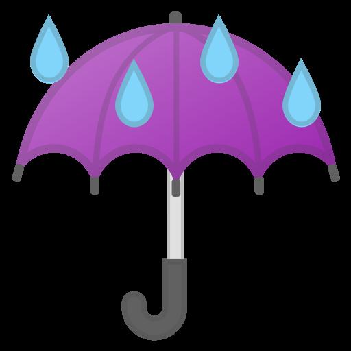 Paraguas Con Gotas De Lluvia Emoji