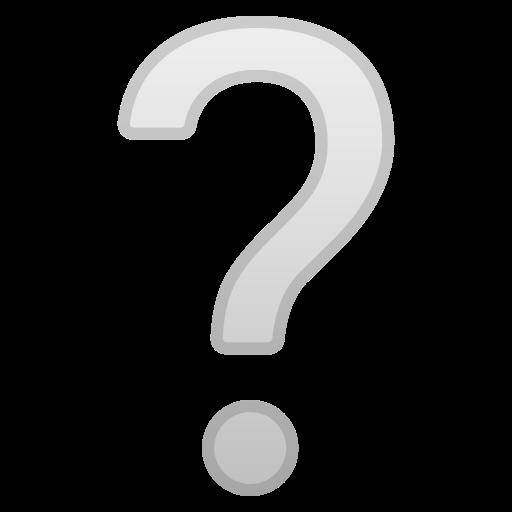 Point D Interrogation Blanc Emoji
