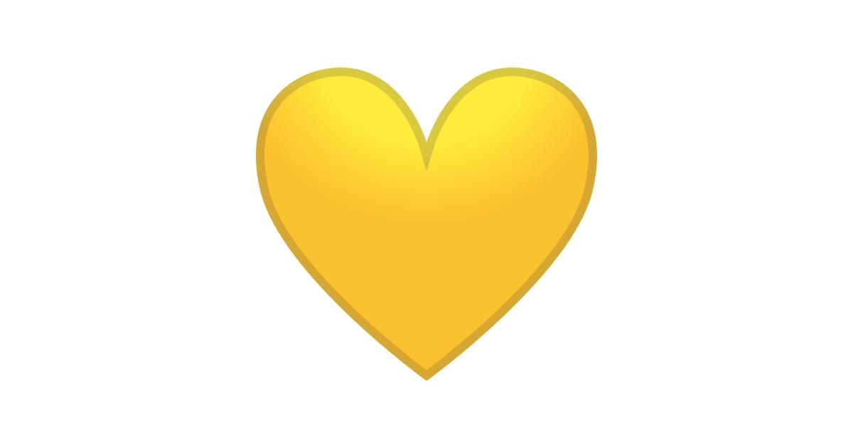 Cora U00e7 U00e3o Amarelo Emoji