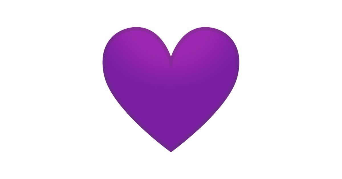 💜 Cœur Violet Emoji