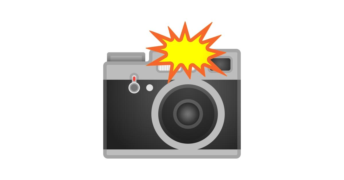 было картинка фотоаппарата со вспышкой треугольник