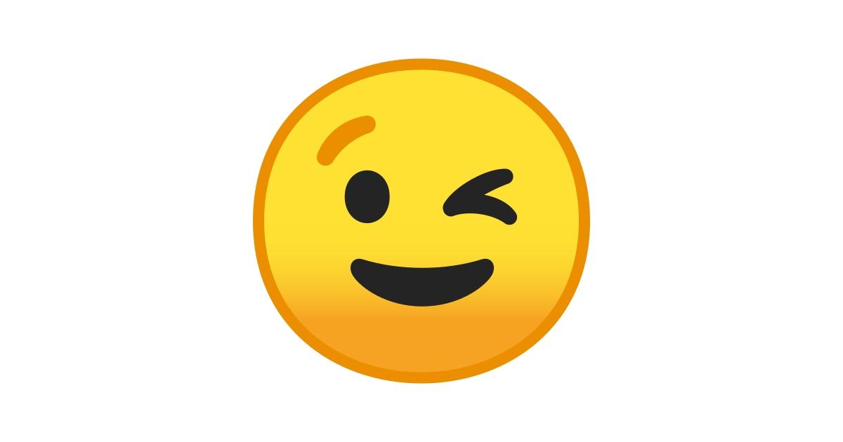 😉 Cara Guiñando El Ojo Emoji