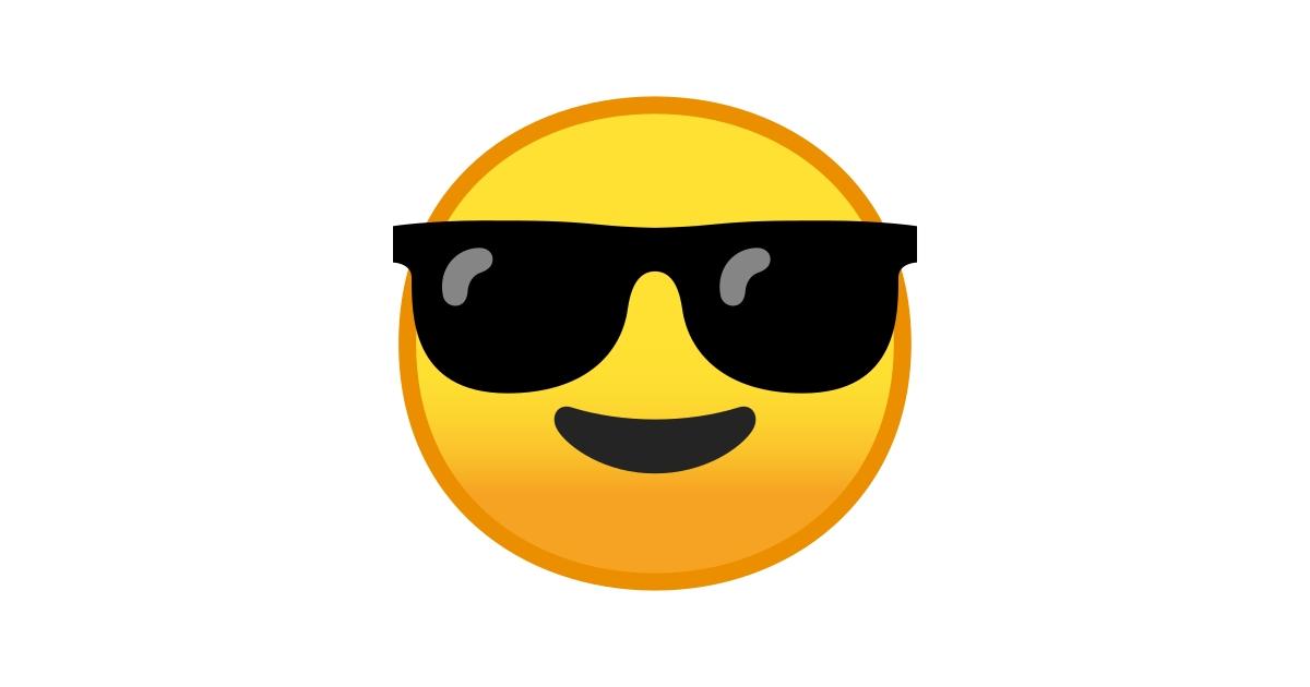 Cara Sonriendo Con Gafas De Sol Emoji