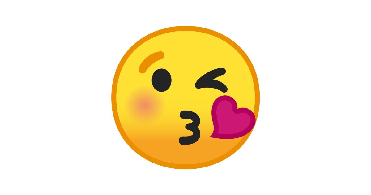 😘 Cara Lanzando Un Beso Emoji