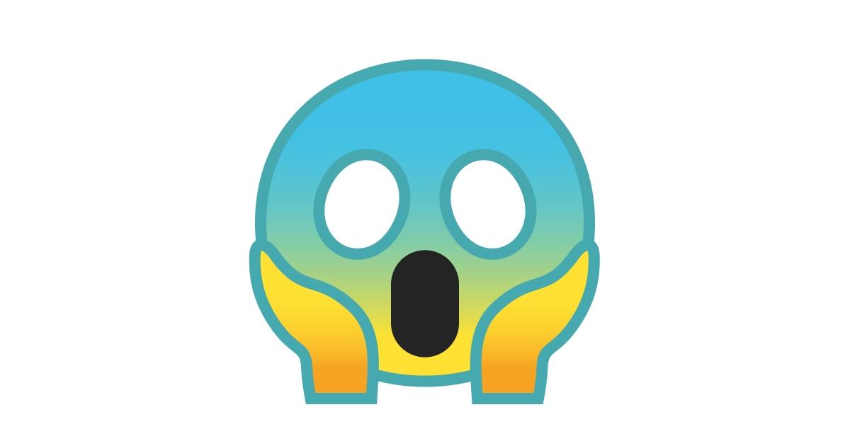 😱 Faccina Terrorizzata Emoji
