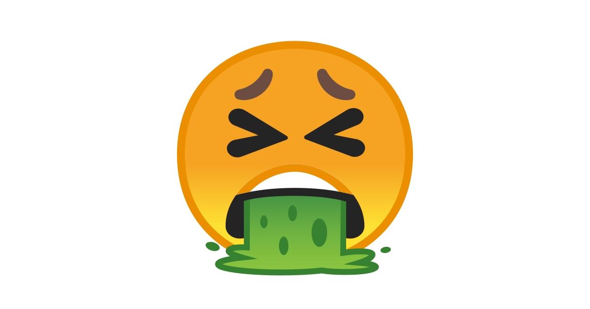 Visage Qui Vomit Emoji Visage Qui Vomit