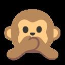 Google (Android 11); Scimmia Non Parlare Del Male Emoji