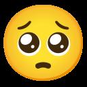 Google (Android 11); Pleading Emoji