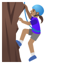 Google (Android 11); Mulher Escalando: Pele Bronzeada