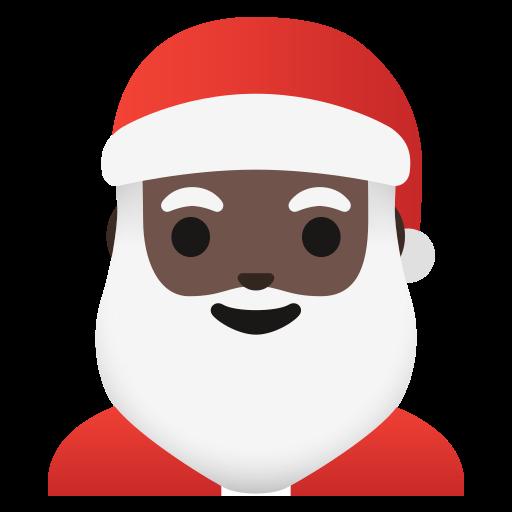 🎅🏿 Père Noël : Peau Foncée Emoji