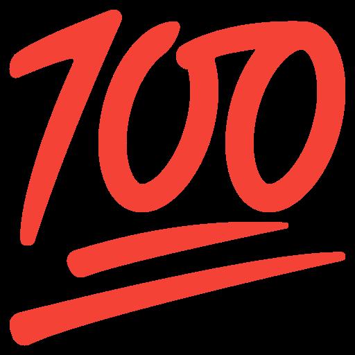 💯 Hundred Points Emoji