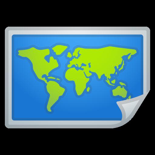 Cartina Mondo Google Maps.World Map Emoji