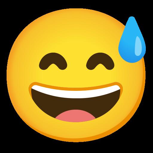 ? Cara Sonriendo Con Sudor Frío Emoji