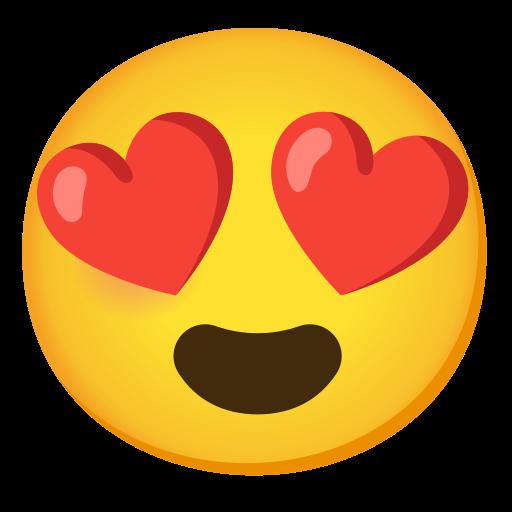 Visage Souriant Avec Yeux En Forme De Cœur Emoji
