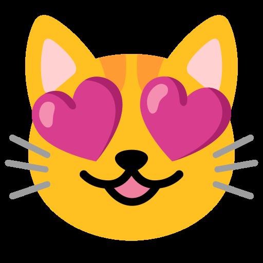 Katze bedeutung herzaugen emoji mit 😻 Smiling