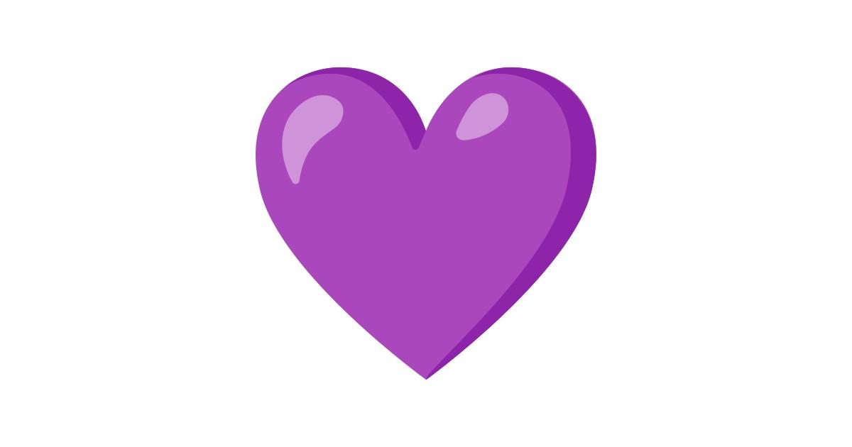 Cœur Violet Emoji