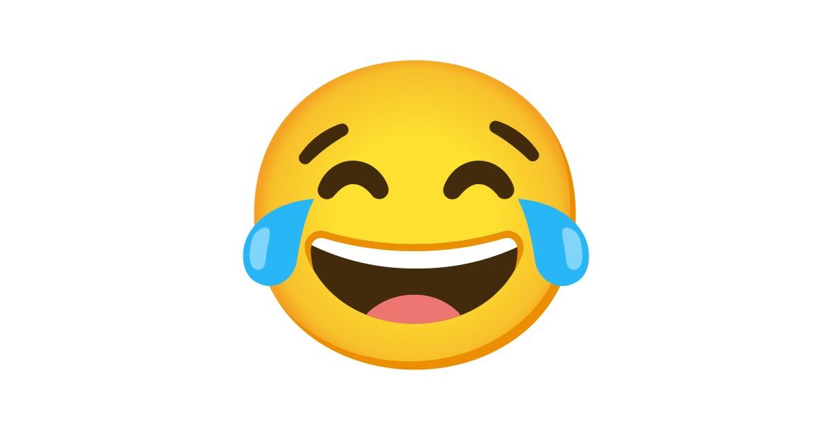Visage Riant Aux Larmes Emoji