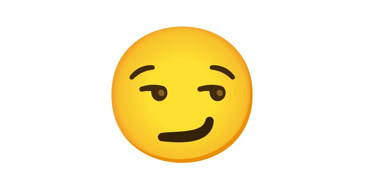 Visage Avec Un Sourire Malin Emoji