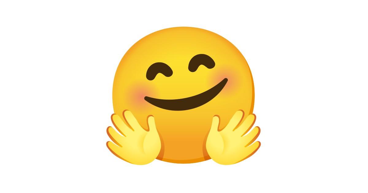 🤗 Gesicht mit umarmenden Händen-Emoji