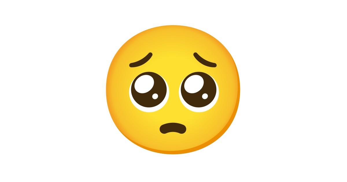 Visage Implorant Emoji