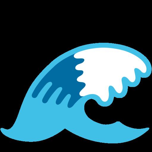 Image result for Wave emoji