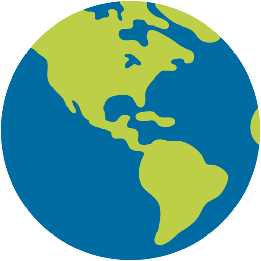 🌎 Globe Showing Americas Emoji