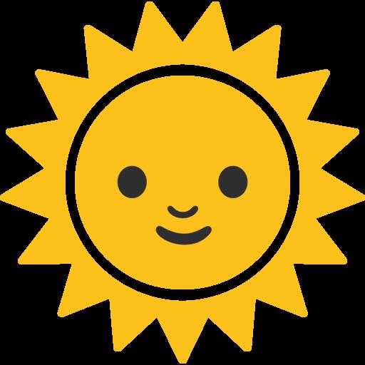 Faccina Sole Emoji