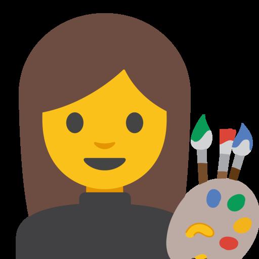 👩🎨 Artista Donna Emoji