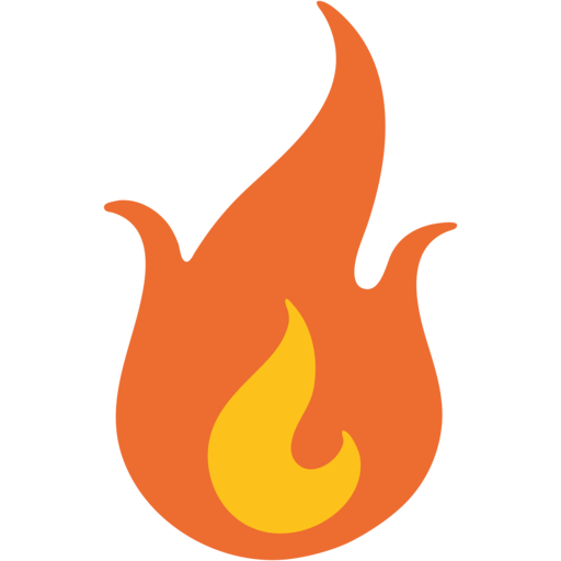 Fire emoji keyboard.