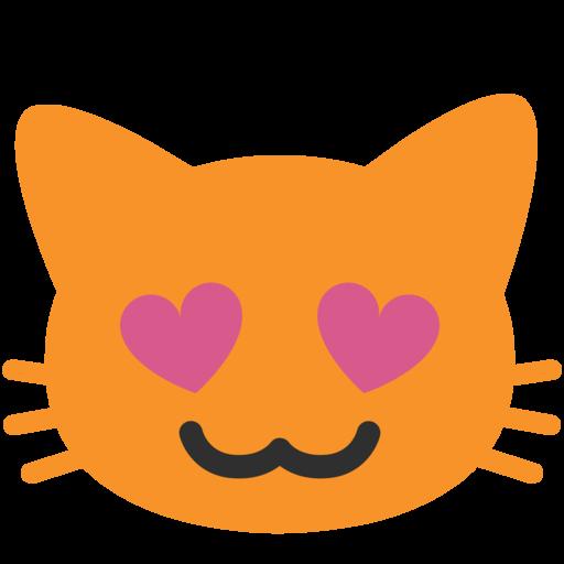 Katze bedeutung herzaugen emoji mit Lachende Katze