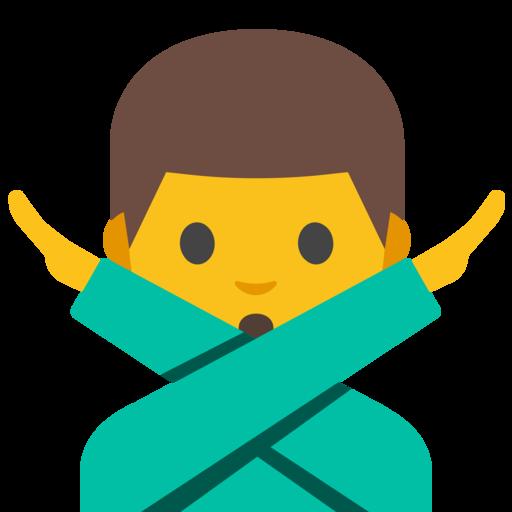 emoji mann mit verschränkten armen