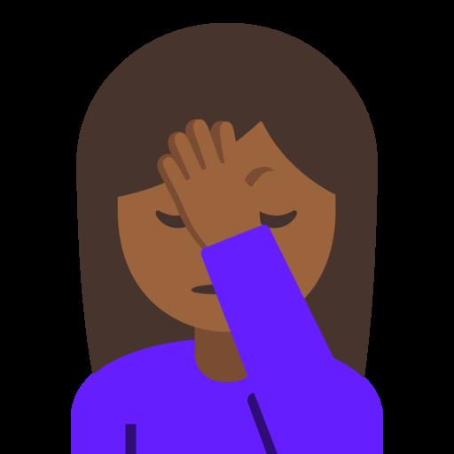 Woman Facepalming Medium Dark Skin Tone Emoji