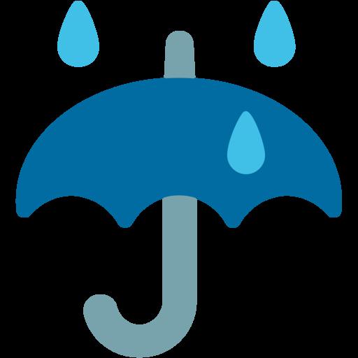 ☔ Umbrella With Rain Drops Emoji