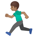 Android Oreo; U+1F3C3 U+1F3FD; Emoji