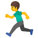 Android Oreo; U+1F3C3 U+200D U+2642 U+FE0F; Emoji