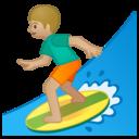 Emoji: 🏄🏼♂️ Android Oreo; U+1F3C4 U+1F3FC U+200D U+2642 U+FE0F