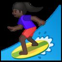 Android Oreo; U+1F3C4 U+1F3FF U+200D U+2640 U+FE0F; Emoji