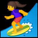 Emoji: 🏄♀️ Android Oreo; U+1F3C4 U+200D U+2640 U+FE0F