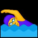Android Oreo; U+1F3CA U+200D U+2640 U+FE0F; Emoji