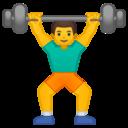 Android Oreo; U+1F3CB U+FE0F U+200D U+2642 U+FE0F; Emoji