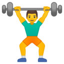Android Oreo; U+1F3CB U+FE0F; Emoji