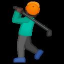 Android Oreo; U+1F3CC U+1F3FF; Emoji