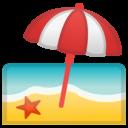 Android Oreo; U+1F3D6 U+FE0F; Emoji