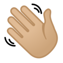 Emoji: 👋🏼 Android Oreo; U+1F44B U+1F3FC